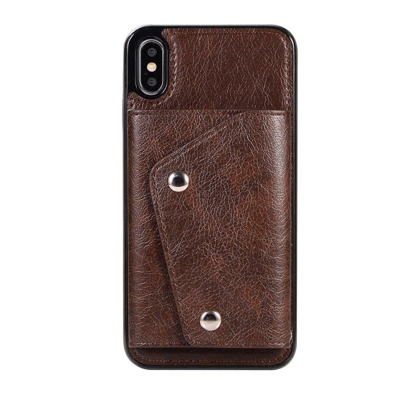 Brown Leather Wallet Case iPhone Case get.casely iPhone XS Max