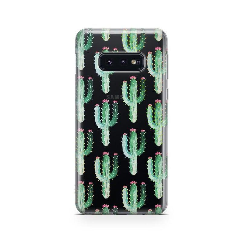 Cactus Patterned Clear Case iPhone Case Get.Casely Classic Galaxy S10E