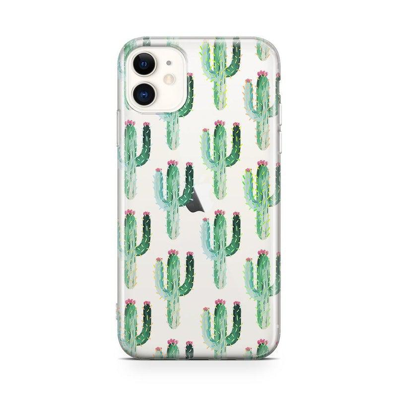 Cactus Patterned Clear Case iPhone Case Get.Casely Classic iPhone 11
