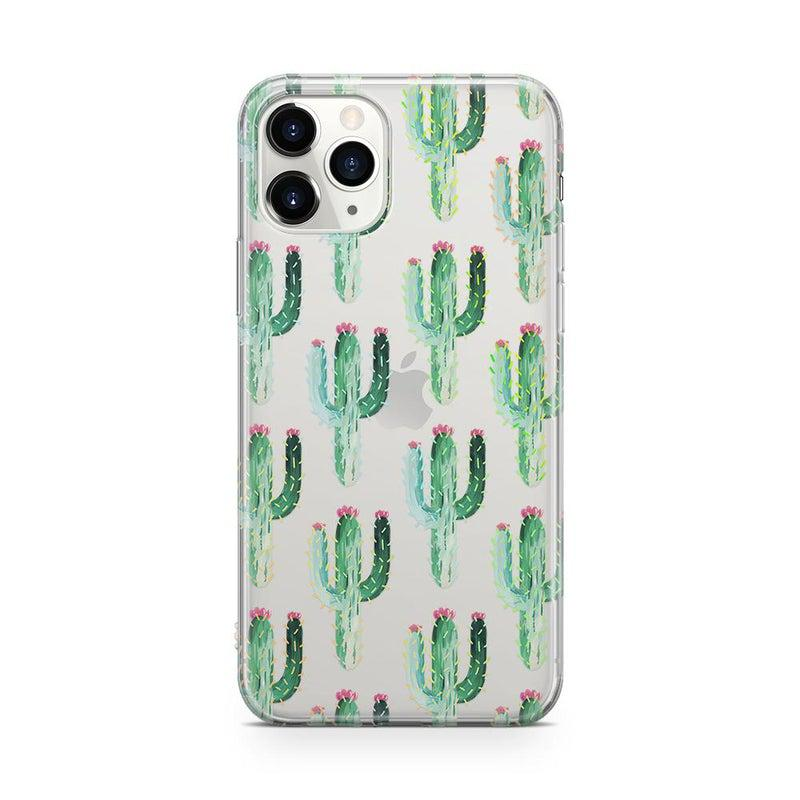 Cactus Patterned Clear Case iPhone Case Get.Casely Classic iPhone 11 Pro