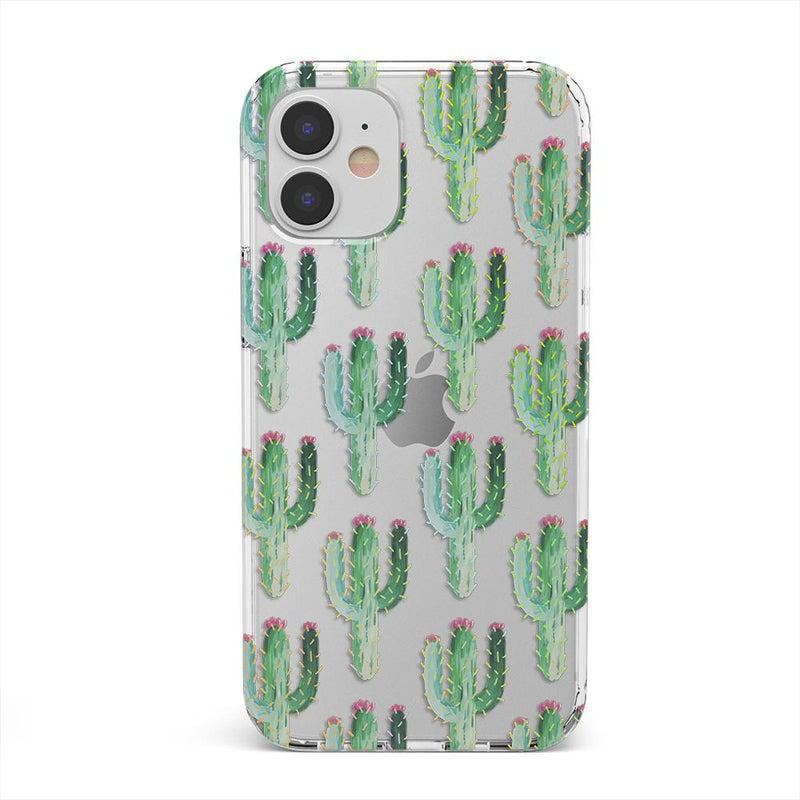 Cactus Patterned Clear Case iPhone Case get.casely Classic iPhone 12 Mini
