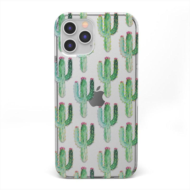 Cactus Patterned Clear Case iPhone Case get.casely Classic iPhone 12 Pro
