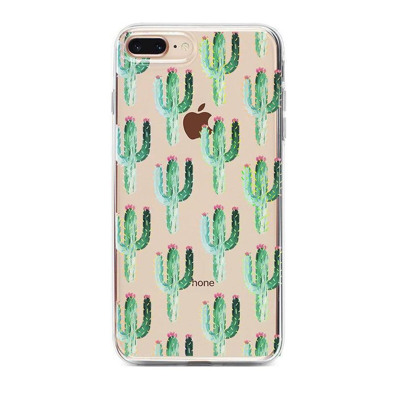 Cactus Patterned Clear Case iPhone Case Get.Casely Classic iPhone 6/6s Plus