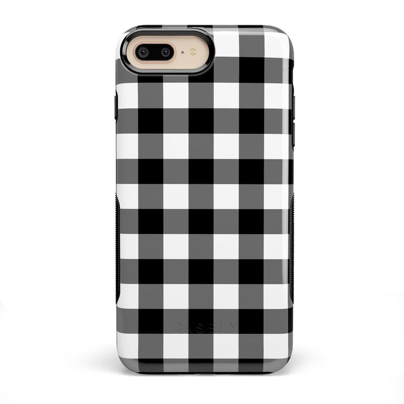 Check Me Out | Checkerboard Case iPhone Case Get.Casely Bold iPhone 8 Plus