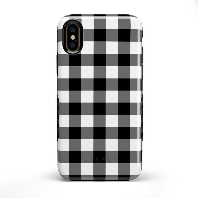 Check Me Out | Checkerboard Case iPhone Case Get.Casely Bold iPhone X / XS