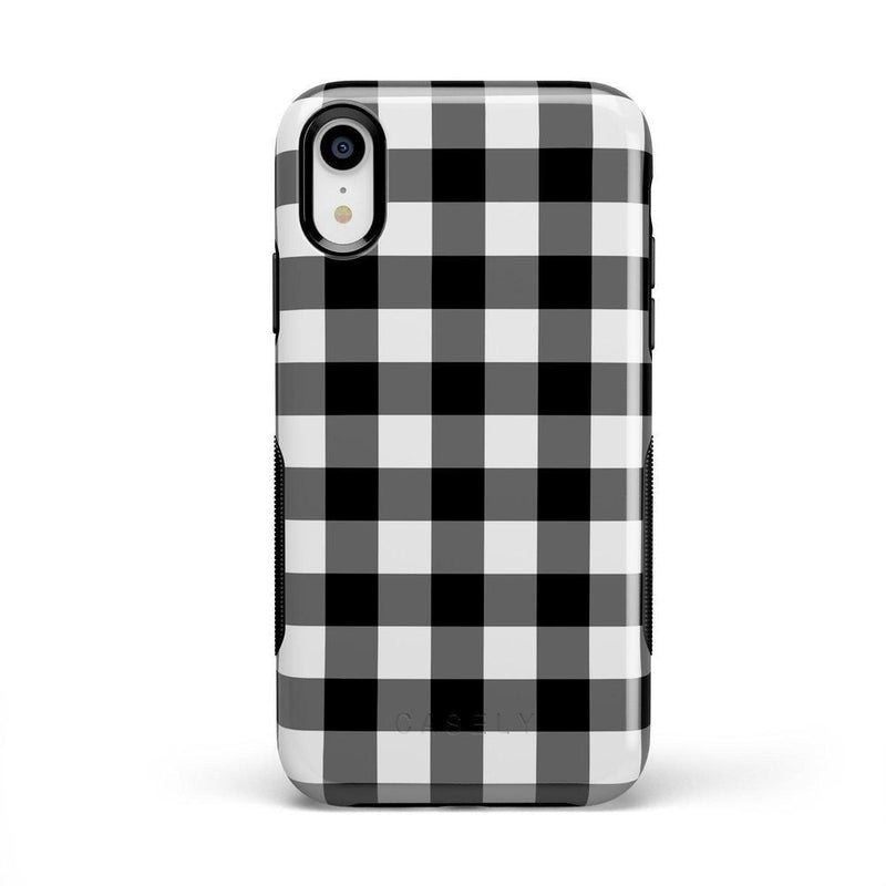 Check Me Out | Checkerboard Case iPhone Case Get.Casely Bold iPhone XR