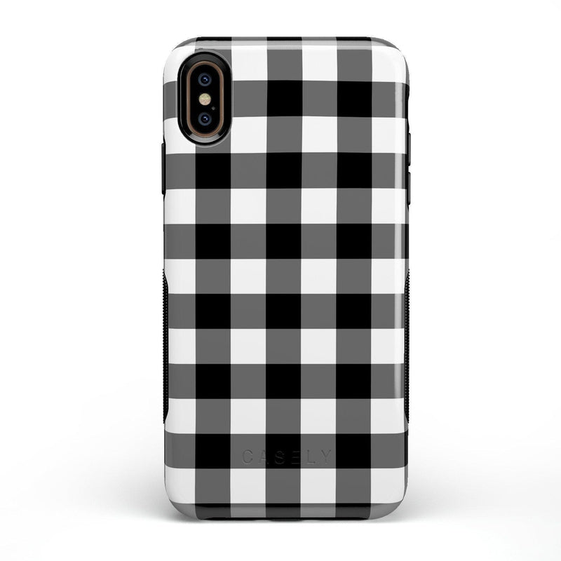 Check Me Out | Checkerboard Case iPhone Case Get.Casely Bold iPhone XS Max