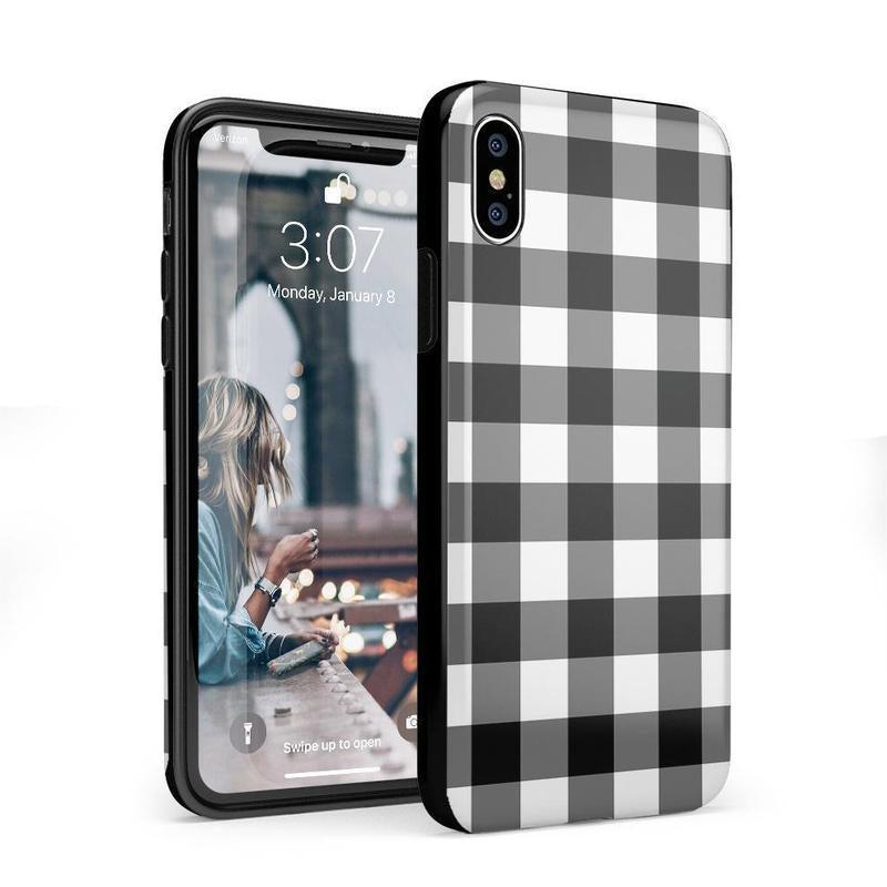 Check Me Out | Checkerboard Case iPhone Case Get.Casely Classic iPhone X / XS