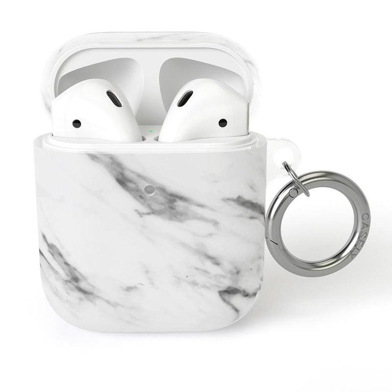 Classic White Marble AirPods Case AirPods Case CASELY AirPods Case