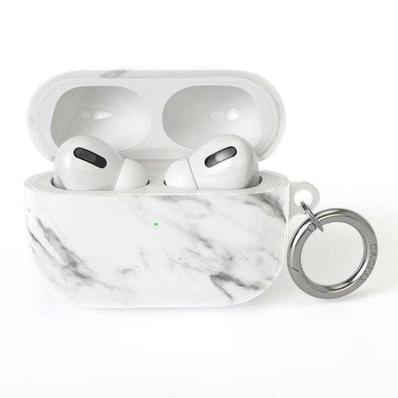 Classic White Marble AirPods Case AirPods Case CASELY AirPods Pro Case