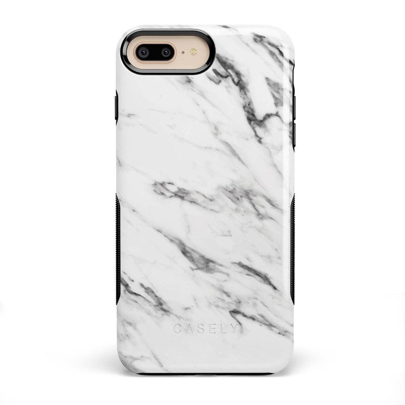 Classic White Marble Case iPhone Case Get.Casely Bold iPhone 8 Plus