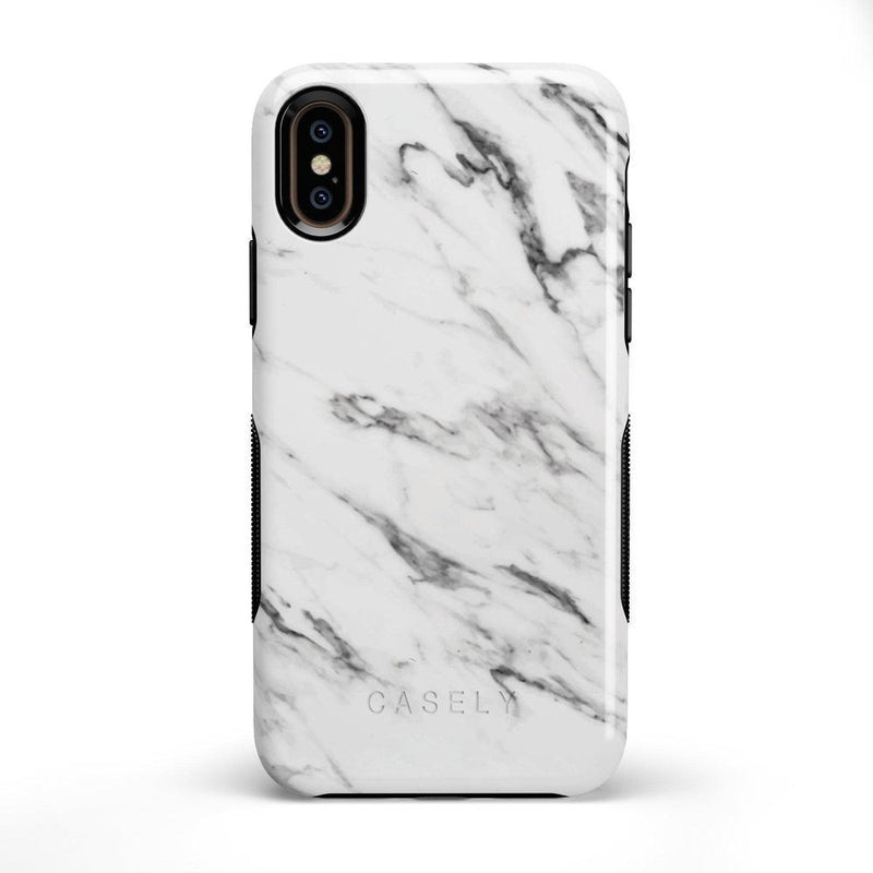 Classic White Marble Case iPhone Case Get.Casely Bold iPhone X / XS