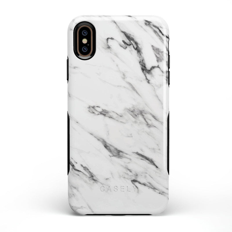Classic White Marble Case iPhone Case Get.Casely Bold iPhone XS Max