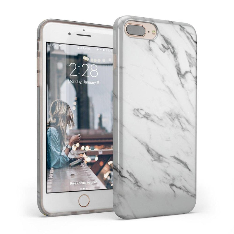 Classic White Marble Case iPhone Case Get.Casely Classic iPhone 6/6s Plus