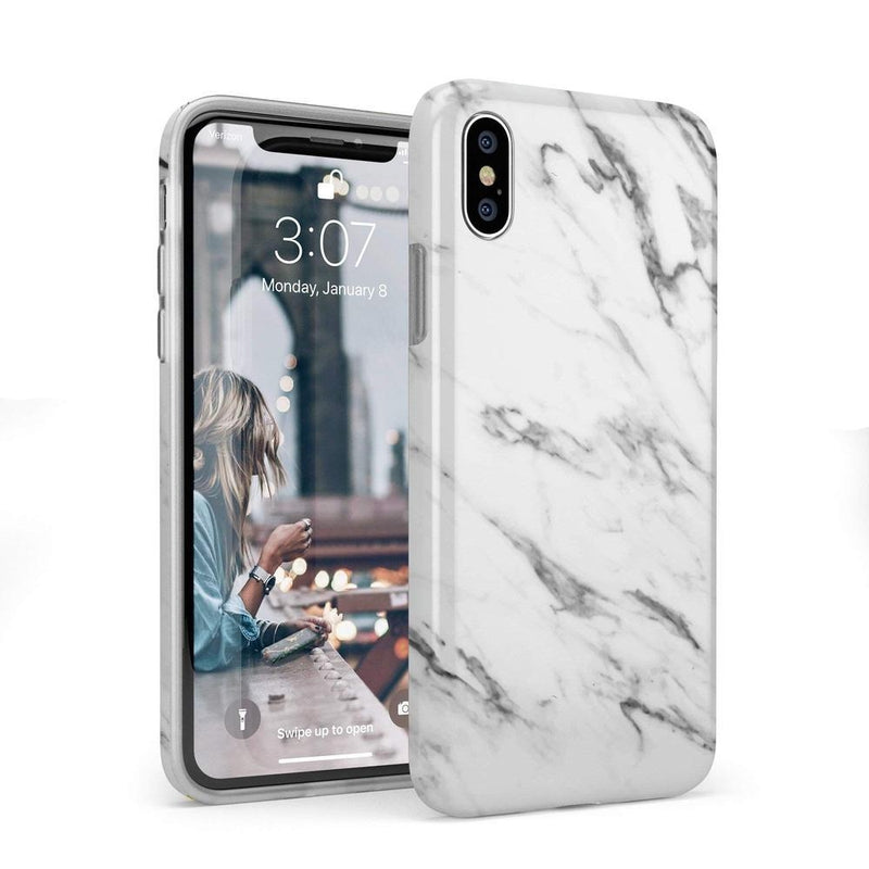 Classic White Marble Case iPhone Case Get.Casely Classic iPhone X / XS