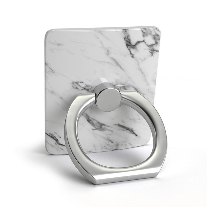 Classic White Marble Phone Ring Phone Ring get.casely
