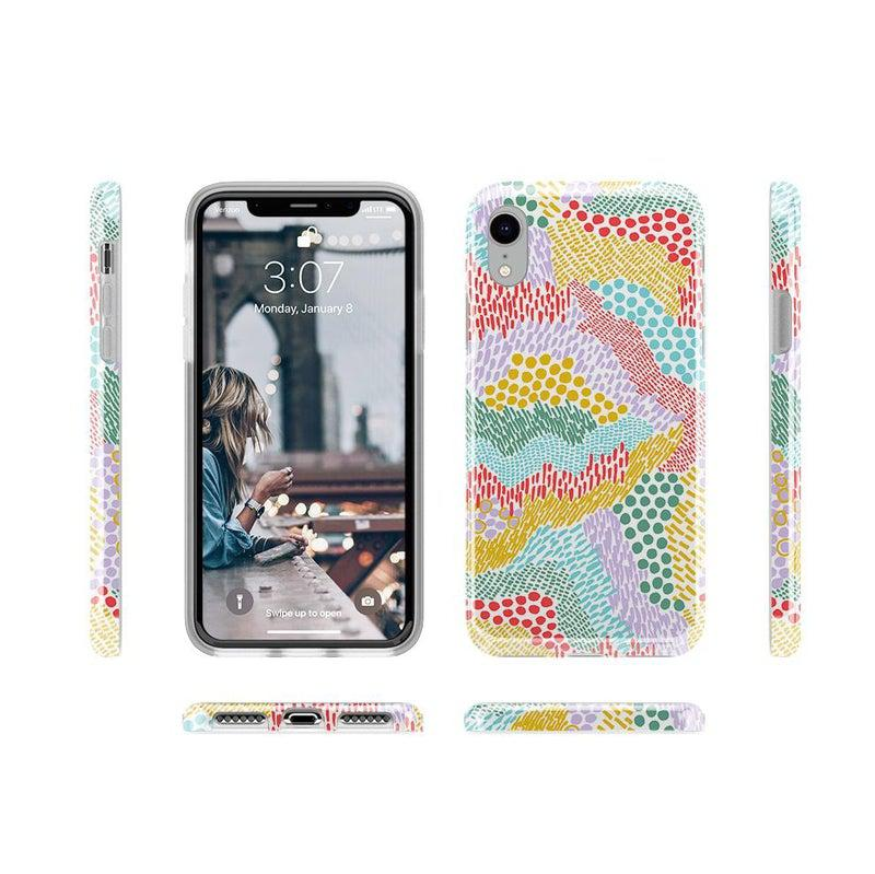 Color Me Happy | Pattern Colorblock Case iPhone Case get.casely