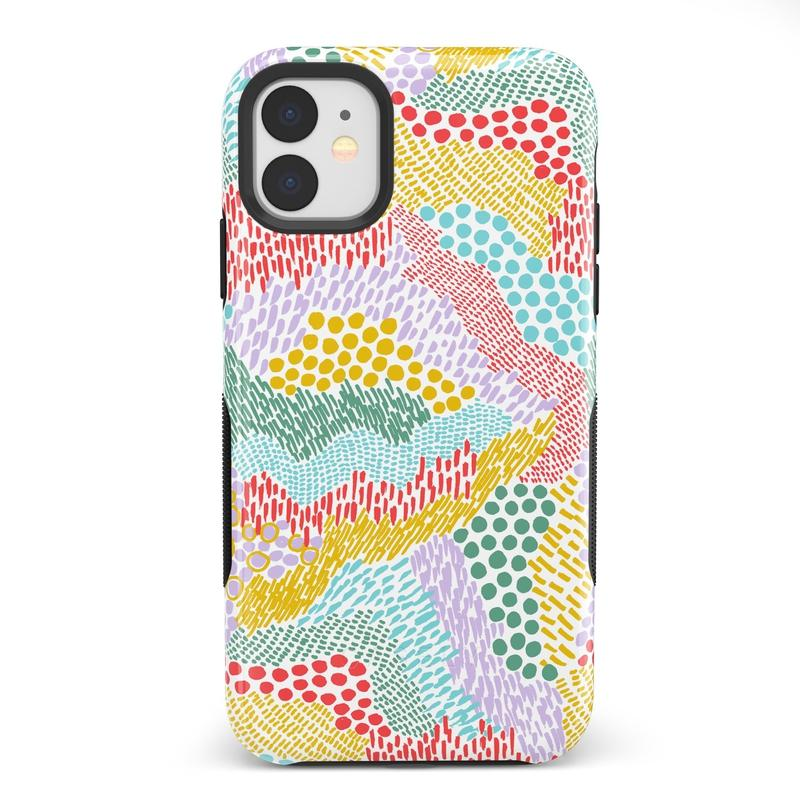 Color Me Happy | Pattern Colorblock Case iPhone Case get.casely Bold iPhone 11