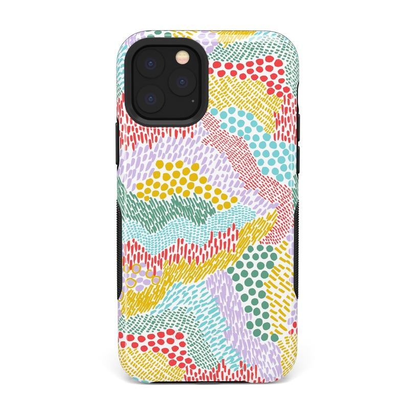 Color Me Happy | Pattern Colorblock Case iPhone Case get.casely Bold iPhone 11 Pro Max