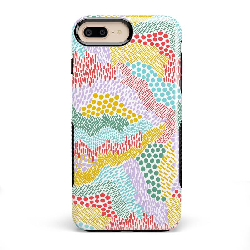 Color Me Happy | Pattern Colorblock Case iPhone Case get.casely Bold iPhone 8 Plus
