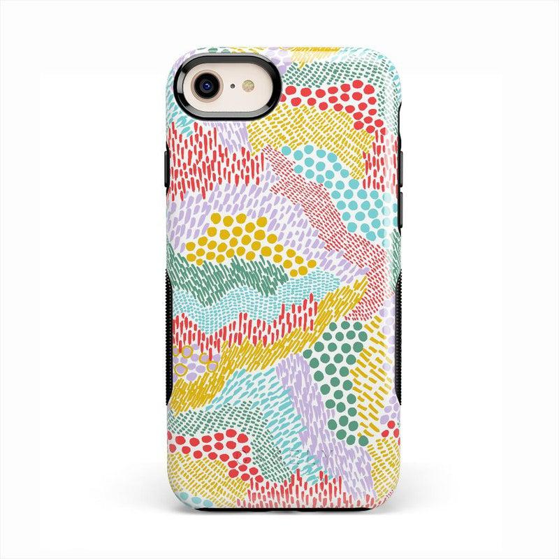 Color Me Happy | Pattern Colorblock Case iPhone Case get.casely Bold iPhone SE (2020)