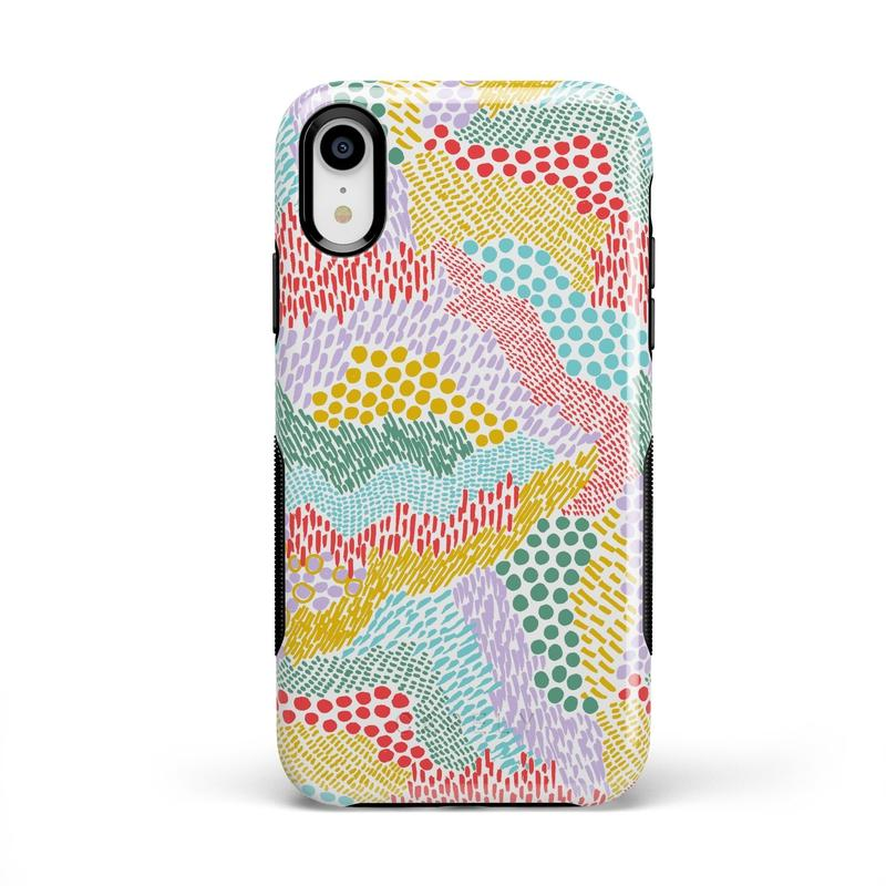 Color Me Happy | Pattern Colorblock Case iPhone Case get.casely Bold iPhone XR