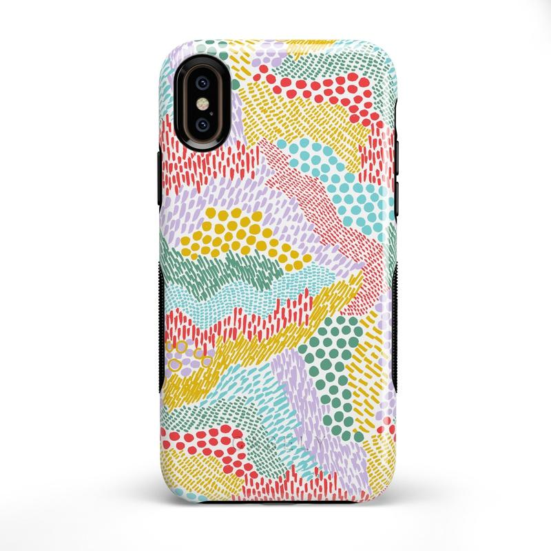 Color Me Happy | Pattern Colorblock Case iPhone Case get.casely Bold iPhone XS Max