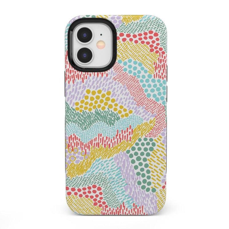 Color Me Happy | Pattern Colorblock Case iPhone Case get.casely Bold + MagSafe® iPhone 12