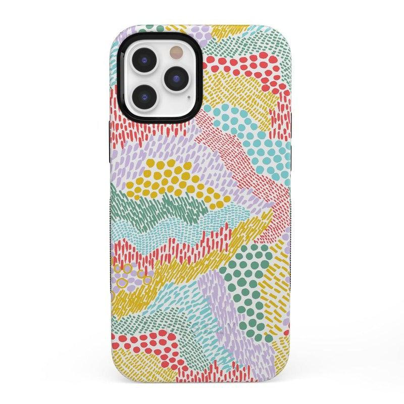 Color Me Happy | Pattern Colorblock Case iPhone Case get.casely Bold + MagSafe® iPhone 12 Pro Max