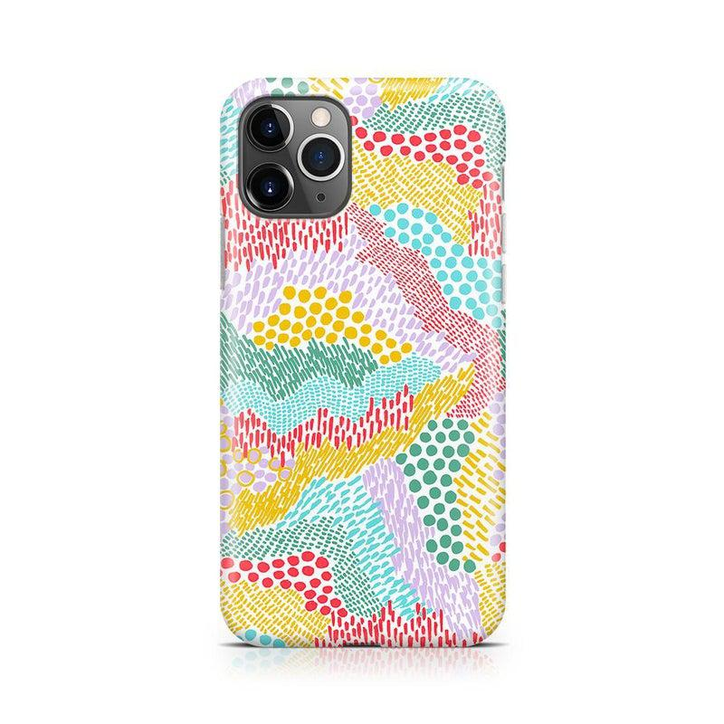 Color Me Happy | Pattern Colorblock Case iPhone Case get.casely Classic iPhone 11 Pro Max