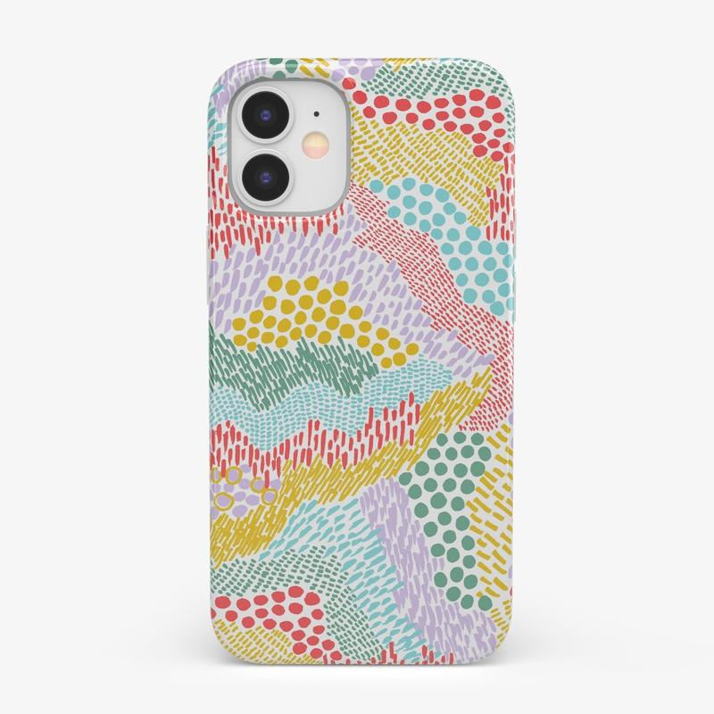 Color Me Happy | Pattern Colorblock Case iPhone Case get.casely Classic iPhone 12