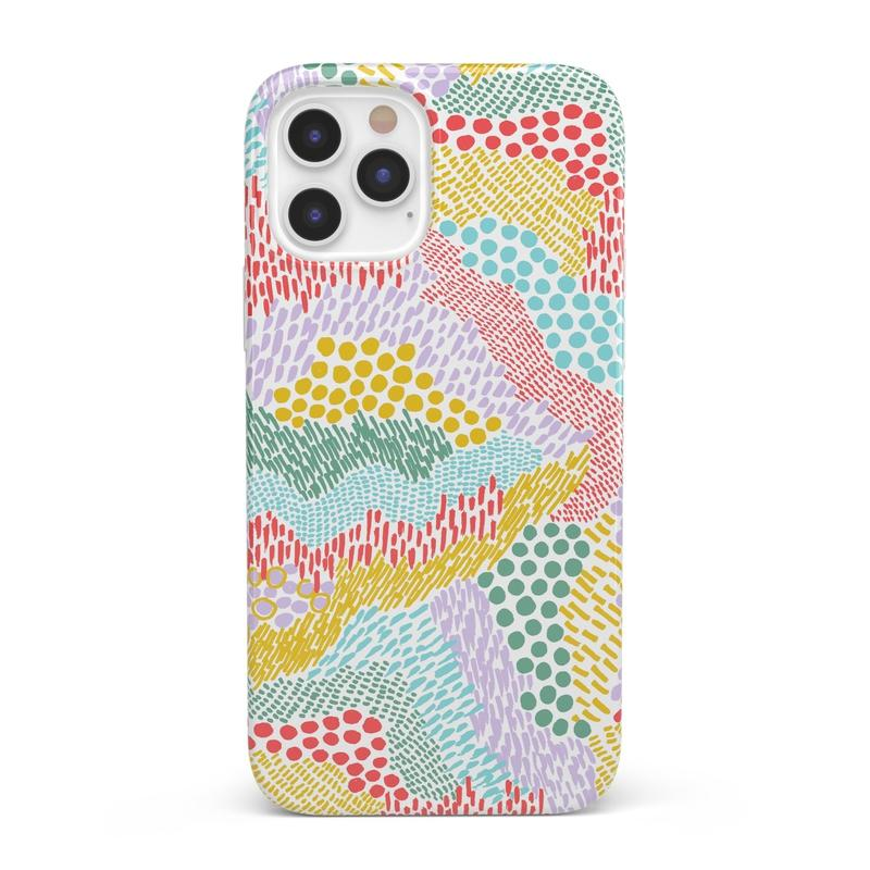 Color Me Happy | Pattern Colorblock Case iPhone Case get.casely Classic iPhone SE (2020)