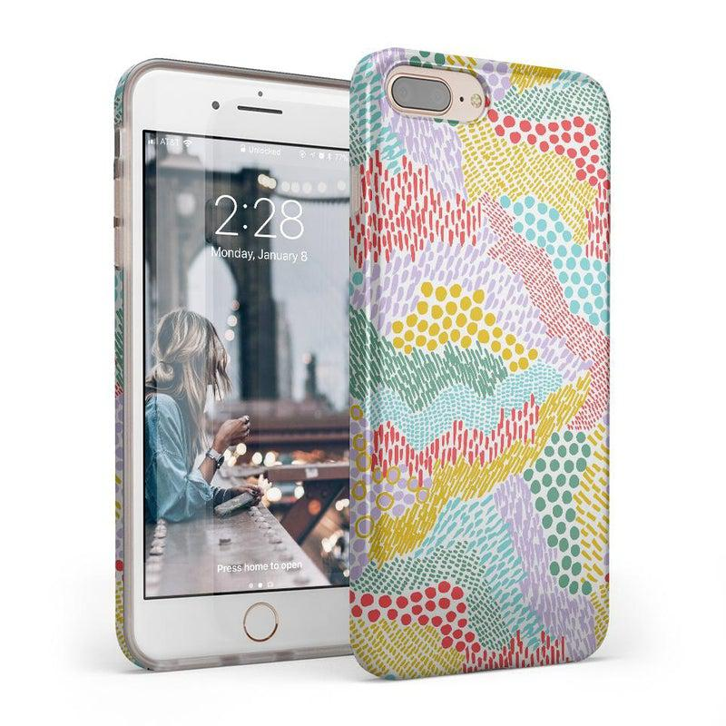 Color Me Happy | Pattern Colorblock Case iPhone Case get.casely Classic iPhone 8 Plus