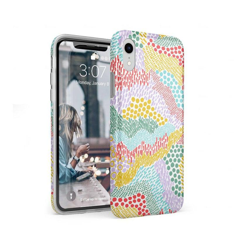 Color Me Happy | Pattern Colorblock Case iPhone Case get.casely Classic iPhone XR