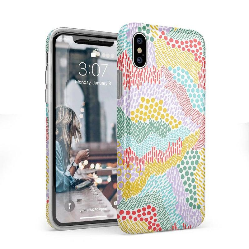 Color Me Happy | Pattern Colorblock Case iPhone Case get.casely Classic iPhone XS Max