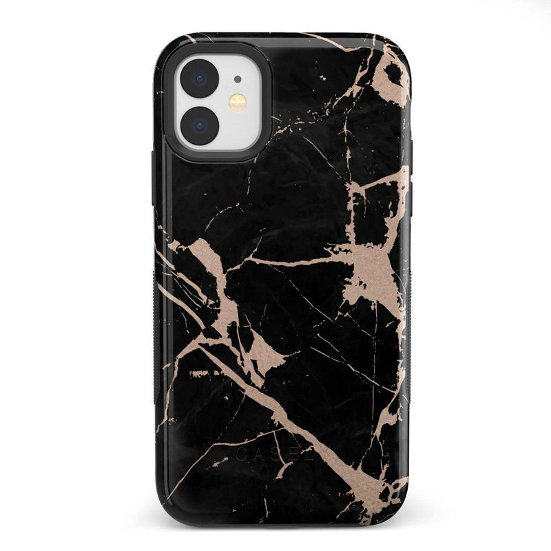 Cracked Rose Gold Black Marble Case iPhone Case Get.Casely Bold iPhone 11