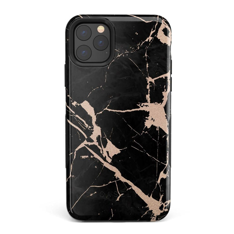 Cracked Rose Gold Black Marble Case iPhone Case Get.Casely Bold iPhone 11 Pro