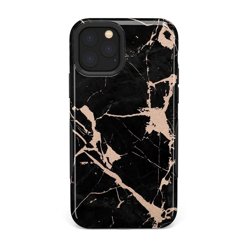 Cracked Rose Gold Black Marble Case iPhone Case Get.Casely Bold iPhone 11 Pro Max