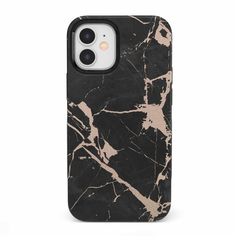 Cracked Rose Gold Black Marble Case iPhone Case get.casely Bold iPhone 12 Mini