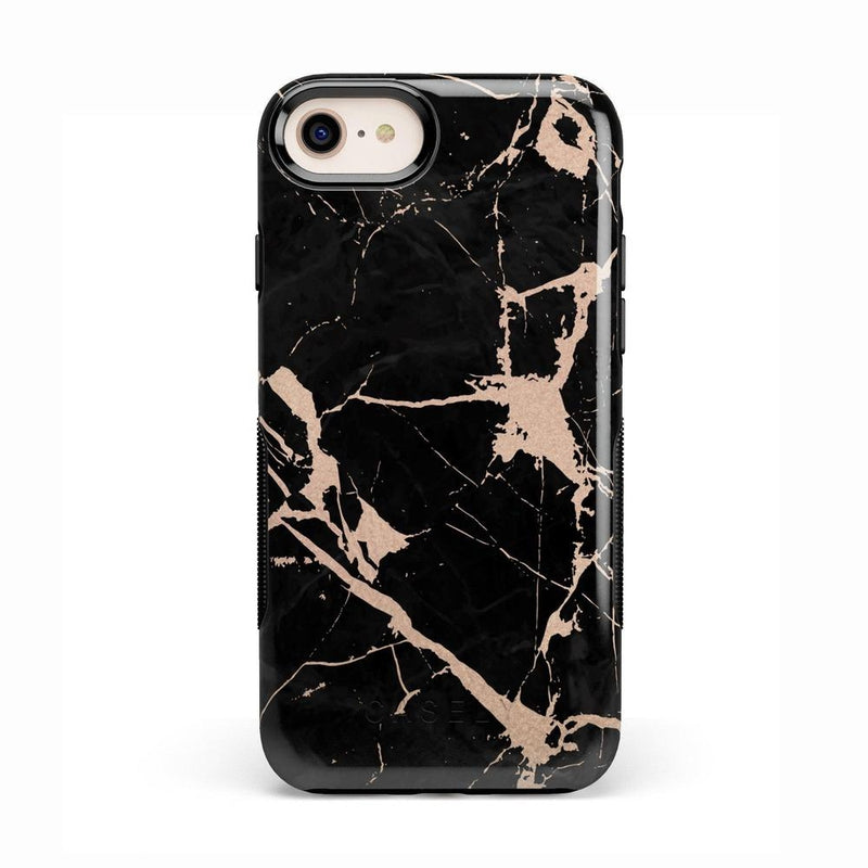 Cracked Rose Gold Black Marble Case iPhone Case Get.Casely Bold iPhone 8