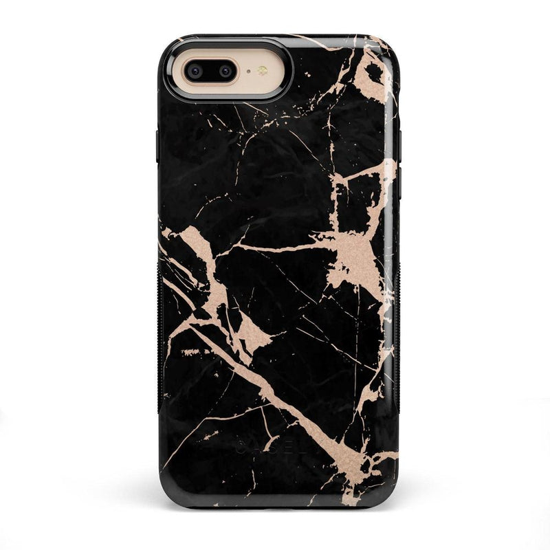 Cracked Rose Gold Black Marble Case iPhone Case Get.Casely Bold iPhone 8 Plus