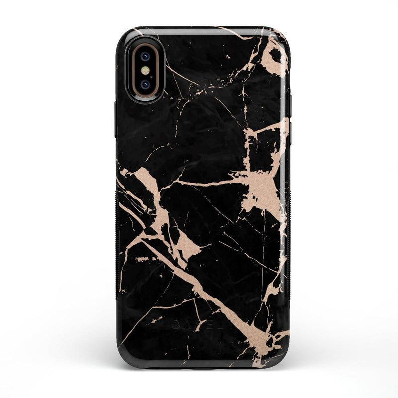 Cracked Rose Gold Black Marble Case iPhone Case Get.Casely Bold iPhone XS Max