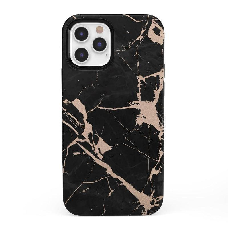 Cracked Rose Gold Black Marble Case iPhone Case get.casely Bold + MagSafe® iPhone 12 Pro Max