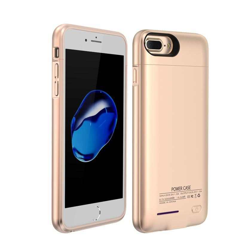 Crystal Gold Battery-Powered Charging Case iPhone Case get.casely iPhone 8 Plus