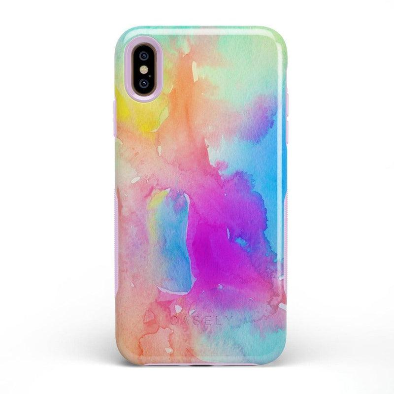 Cute Rainbow Marble Case iPhone Case Get.Casely Bold iPhone XS Max