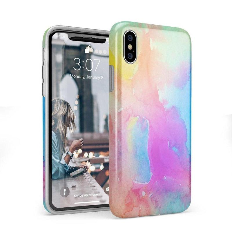 Cute Rainbow Marble Case iPhone Case Get.Casely Classic iPhone X / XS