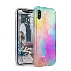 Cute Rainbow Marble Case iPhone Case Get.Casely Classic iPhone XS Max