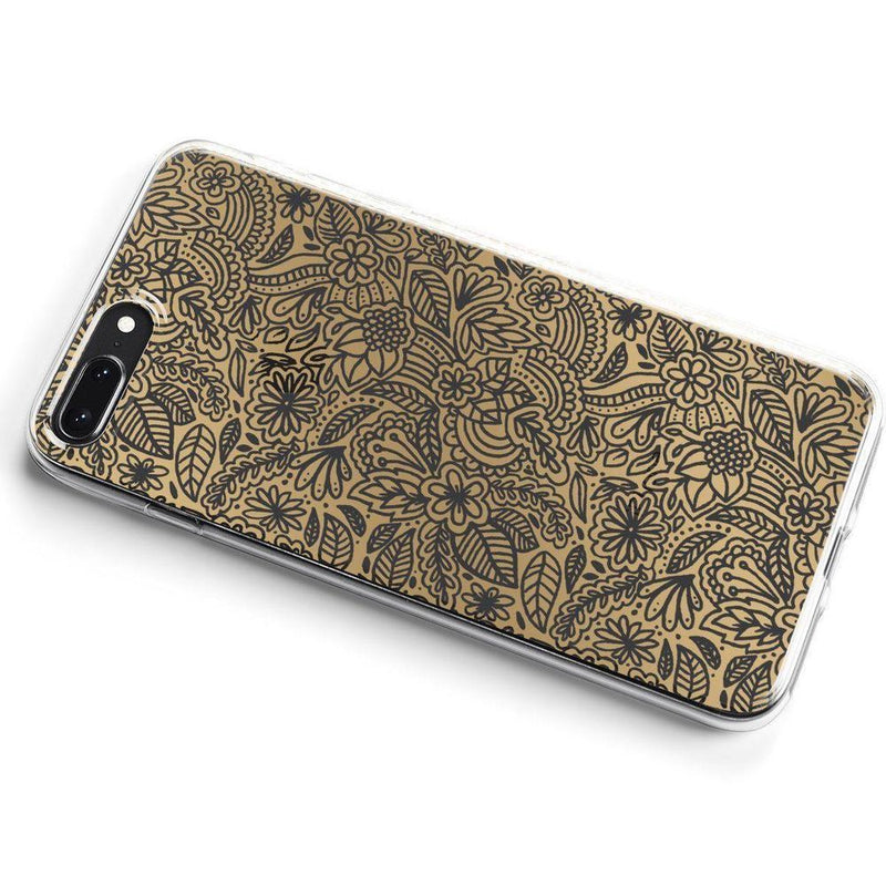 Cute Rose Gold Floral Mandala Clear Case iPhone Case Get.Casely