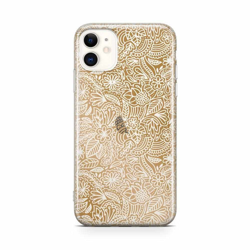 Cute Rose Gold Floral Mandala Clear Case iPhone Case Get.Casely Classic iPhone 11