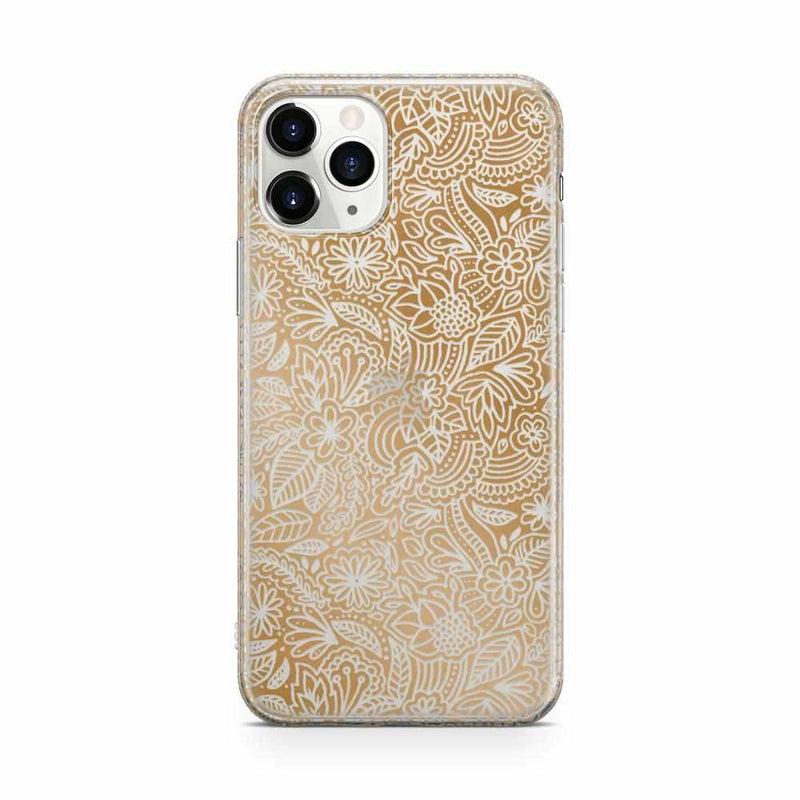 Cute Rose Gold Floral Mandala Clear Case iPhone Case Get.Casely Classic iPhone 11 Pro